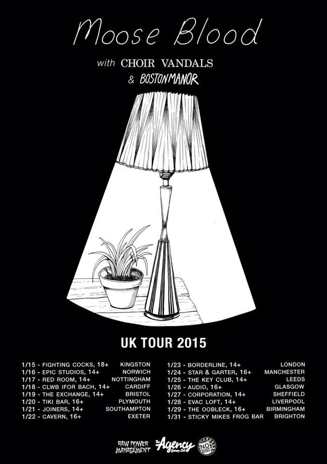 Happening: Moose Blood Announce UK w/ Choir Vandals & Boston Manor
