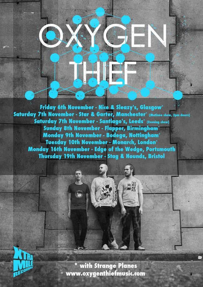 Oxygen Thief Announce Full Band UK Tour For November