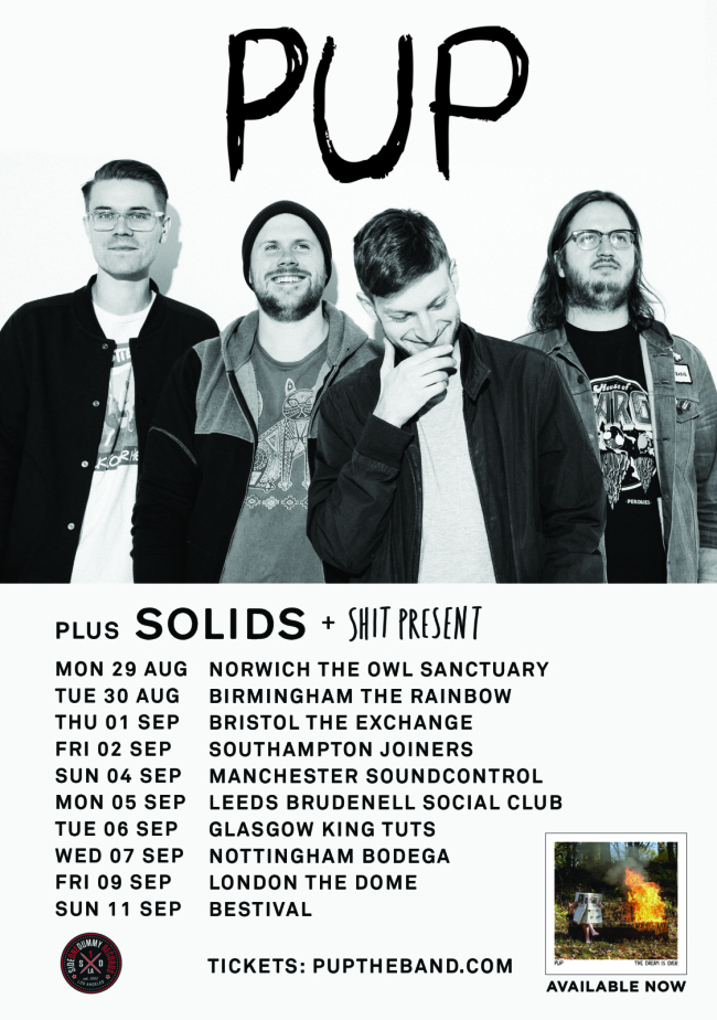PUP Announce August / September UK Tour w/ Solids and Shit Present