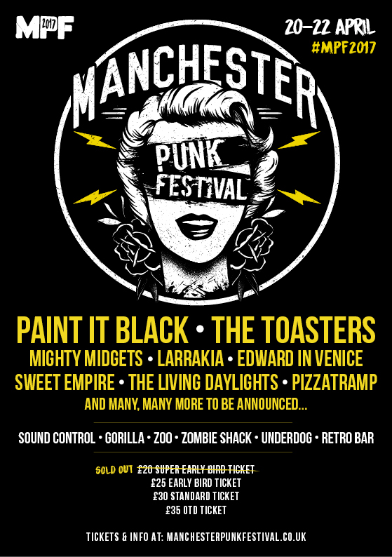 Manchester Punk Festival Announces First Bands For 2017; Paint It Black To Headline