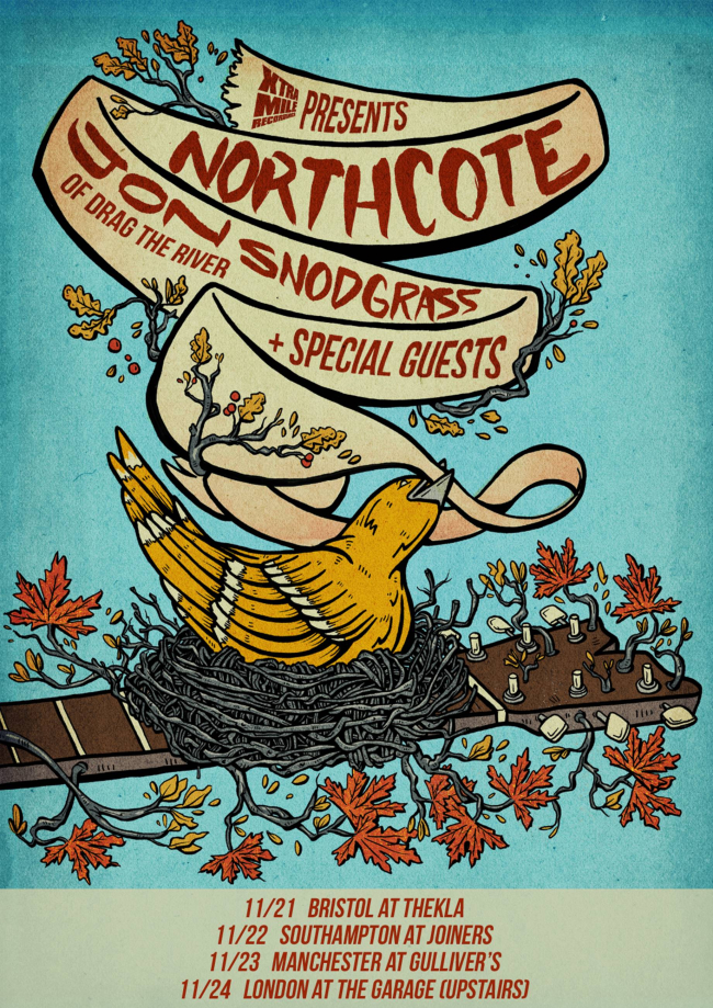Northcote & Jon Snodgrass Announce November UK Mini-Tour