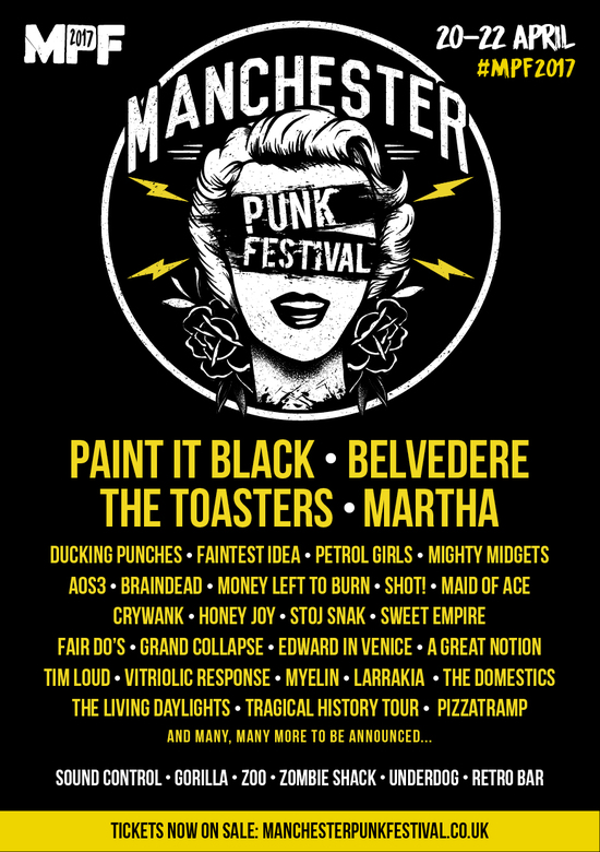 Martha, Belvedere, Petrol Girls & More Added To Manchester Punk Festival 2017