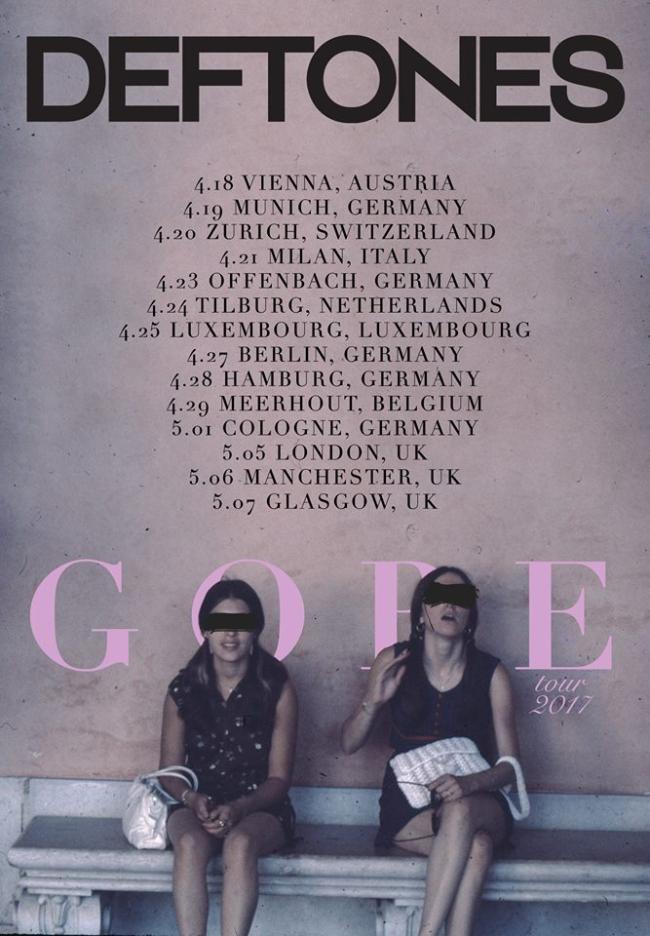 Deftones Announce 2017 EU/UK Headline Tour