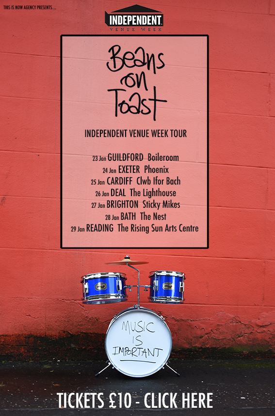 Beans On Toast Announces Independent Venue Week Tour