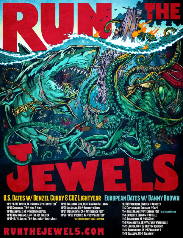 Run The Jewels Announce UK/EU Dates w/ Danny Brown
