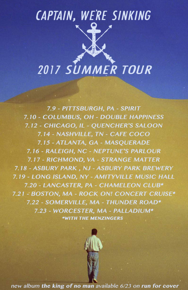 Captain, We're Sinking Announce 2017 Summer Tour (US)