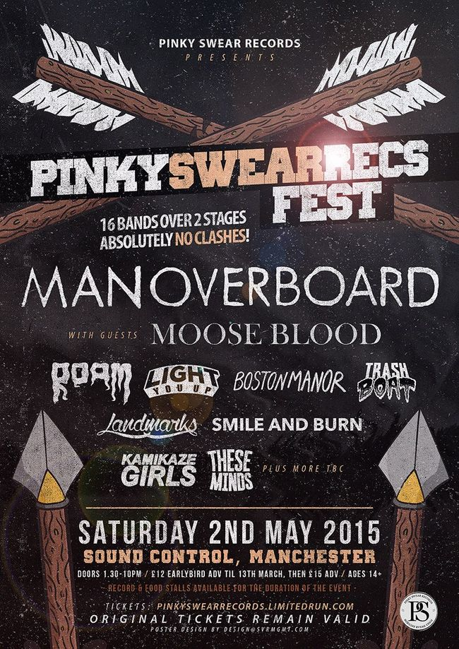Pinky Swear Records Announce Man Overboard, Moose Blood For First Ever Festival