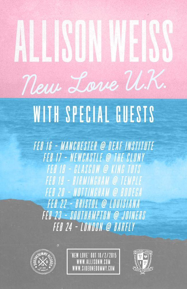 Allison Weiss Confirms UK Tour For February