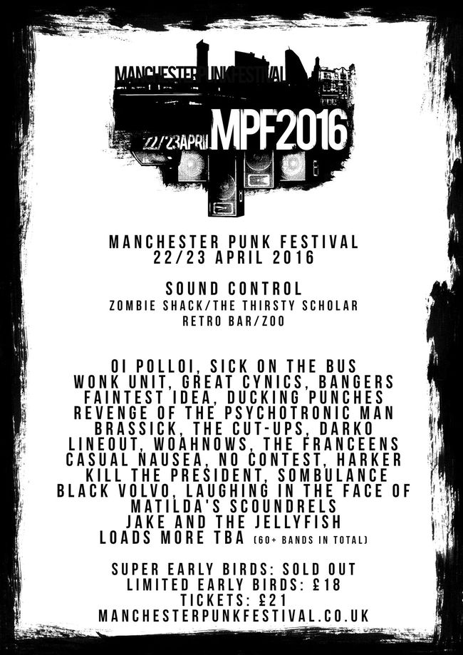 Manchester Punk Festival 2016 Adds Great Cynics, Revenge Of The Psychotronic Man, Bangers & More!