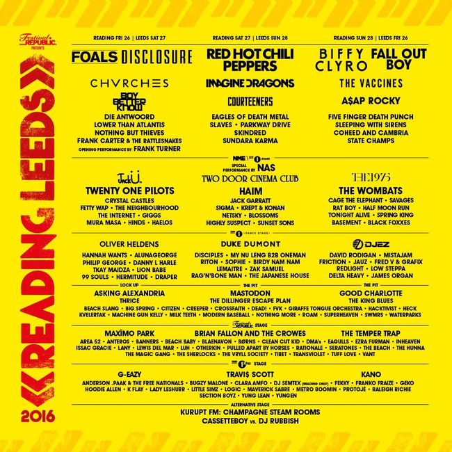 Reading & Leeds 2016 Adds Frank Turner, Brian Fallon, Nas, Beach Slang & More!