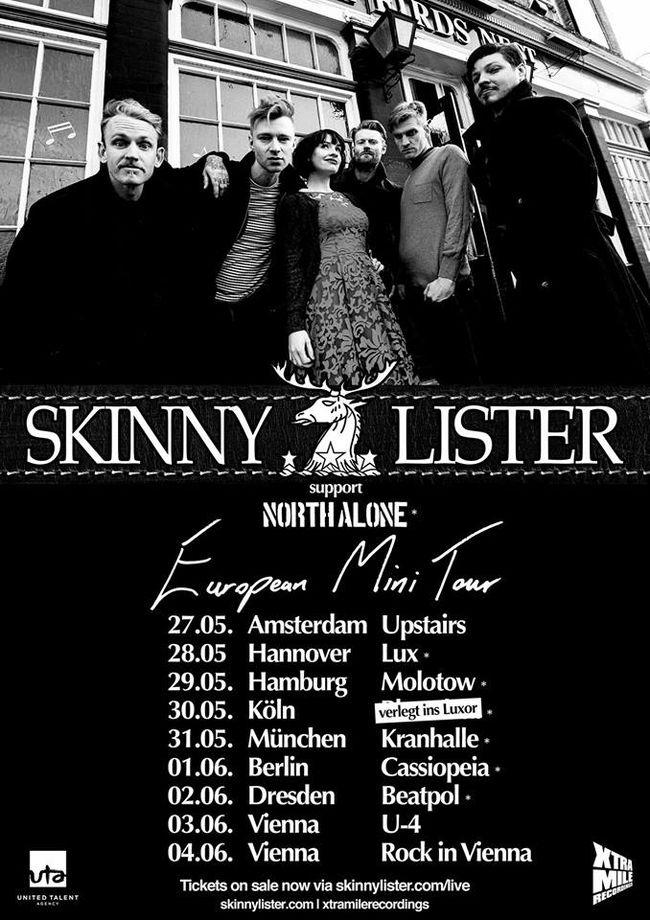 PSA: Skinny Lister Start European Mini-Tour Today!