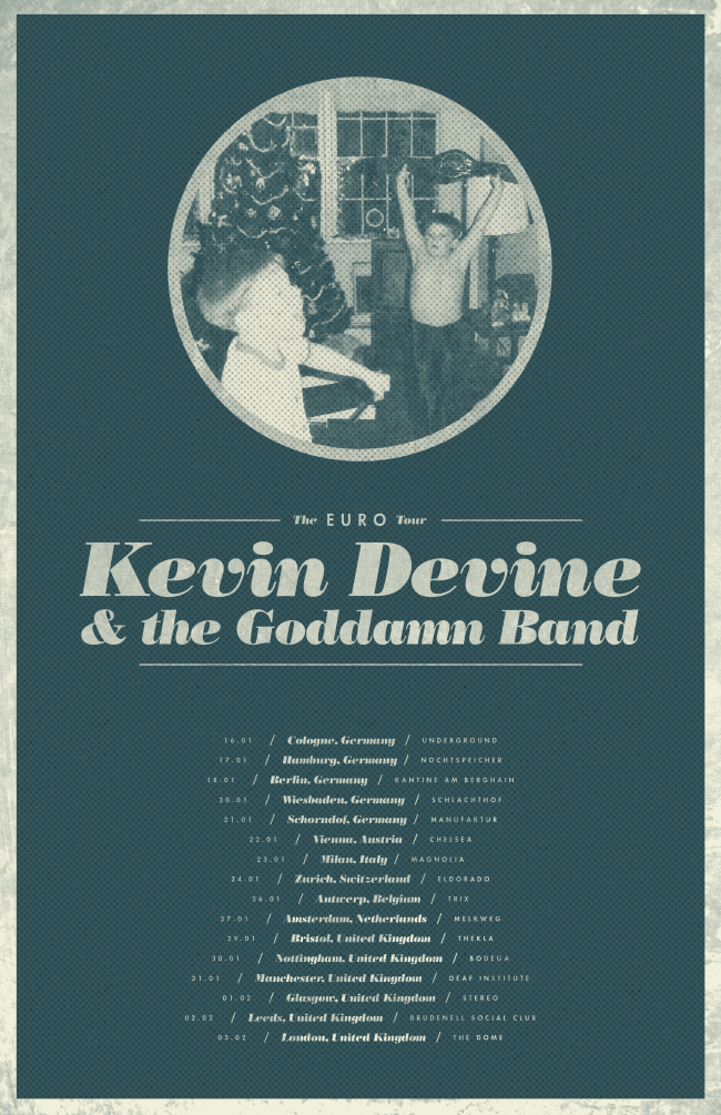 Kevin Devine Announces UK / Europe Shows w/ The Goddamn Band