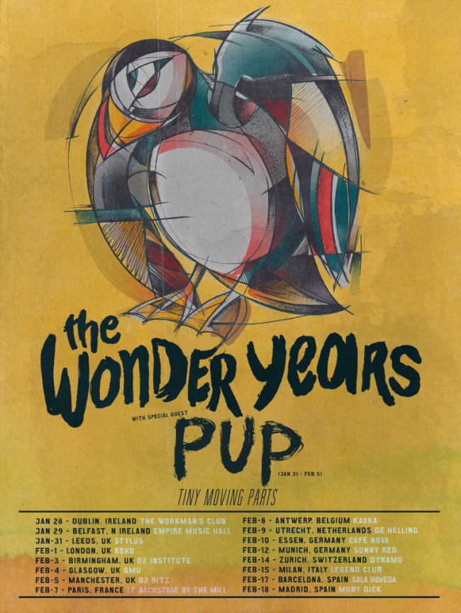 The Wonder Years Announce 2017 UK & European Tour w/ PUP and Tiny Moving Parts