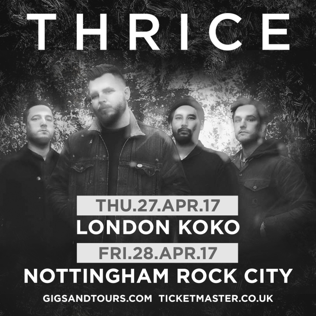 Thrice Announce UK Shows For April