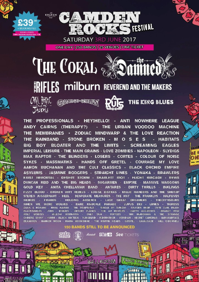 The Coral, Reverend & The Makers And More Added To Camden Rocks 2017
