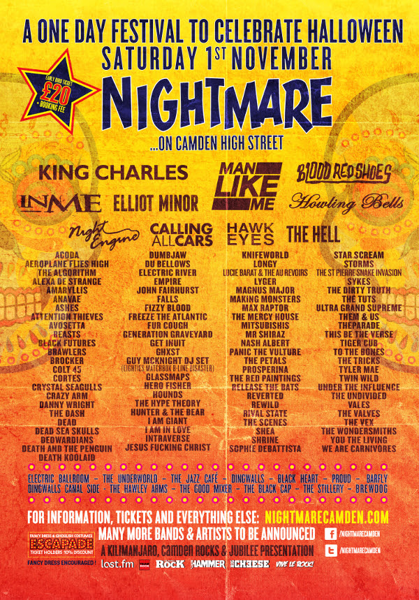 Happening: Nightmare Festival Adds Elliot Minor, Crazy Arm & More