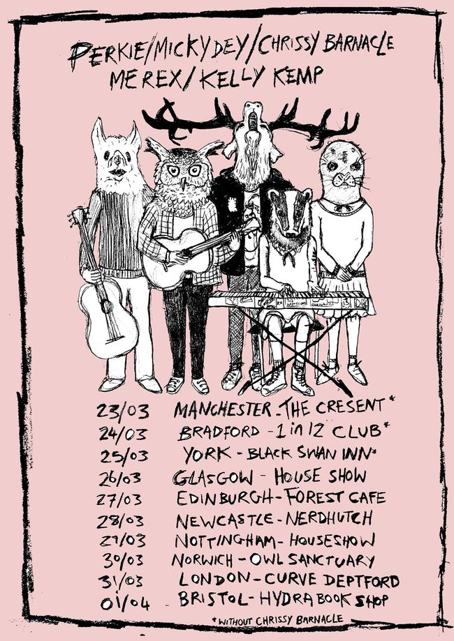 PSA: Perkie, Chrissy Barnacle, Micky Dey, Kelly Kemp And Me-REX Are Going On Tour Next Week