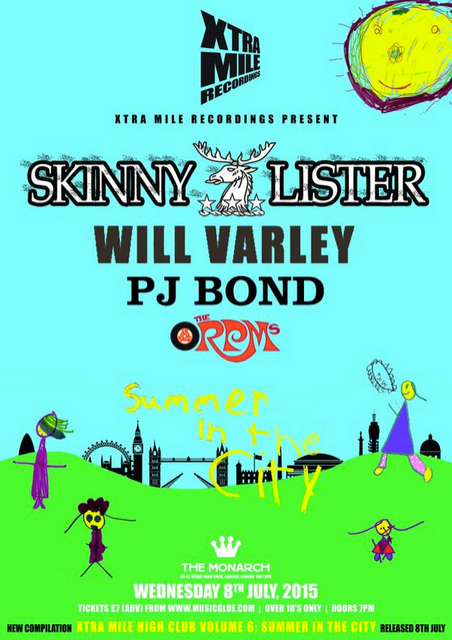Xtra Mile Recordings Announce 'Summer In The City' Show Feat. Skinny Lister, Will Varley, PJ Bond & More!