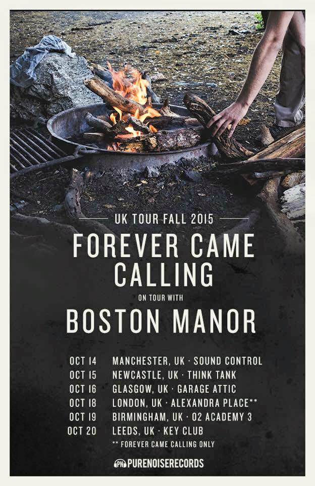 Forever Came Calling and Boston Manor Announce UK Co-Headline Tour