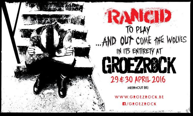 Rancid To Play '...And Out Come The Wolves' As Groezrock 2016 Headliners