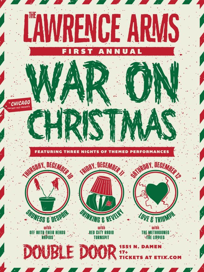 The Lawrence Arms Announce 'War On Christmas' Chicago Holiday Shows