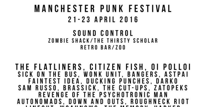 Manchester Punk Festival 2016: Atlas Losing Grip, Pale Angels, The Kimberly Steaks & More Added!