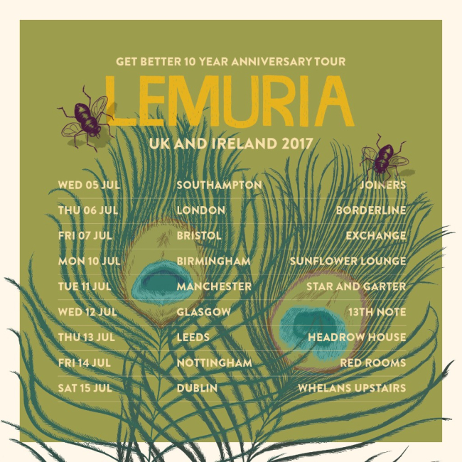 Lemuria Announce 'Get Better' 10 Year Anniversary Tour For UK & Ireland